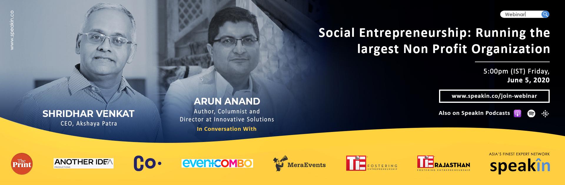 Social Entrepreneurship: Running the largest Non Profit Organization