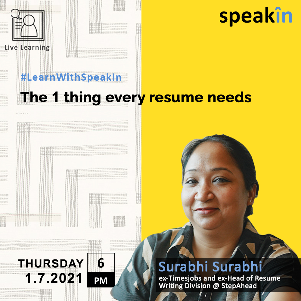 The 1 Thing Every Resume Needs