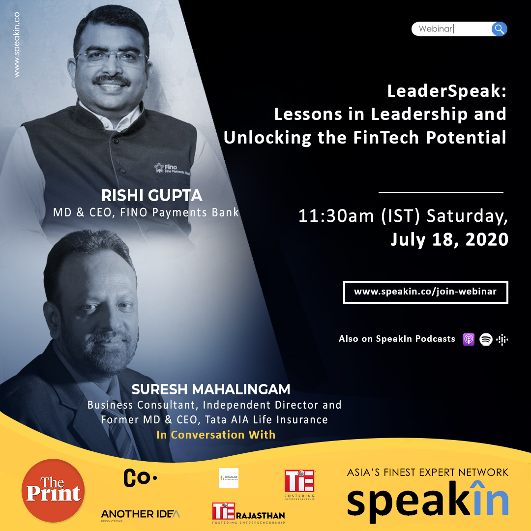 LeaderSpeak: Lessons in Leadership and Unlocking The FinTech Potential
