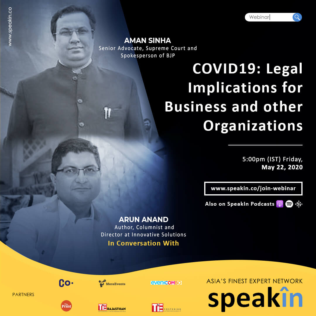 COVID19: Legal Implications for Business and other Organizations