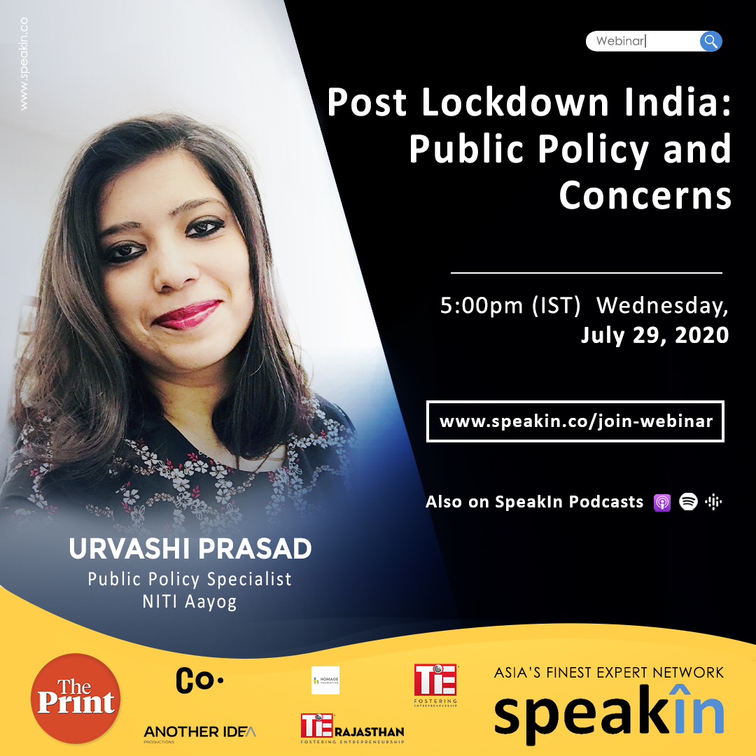 Post Lockdown India: Public Policy and Concerns