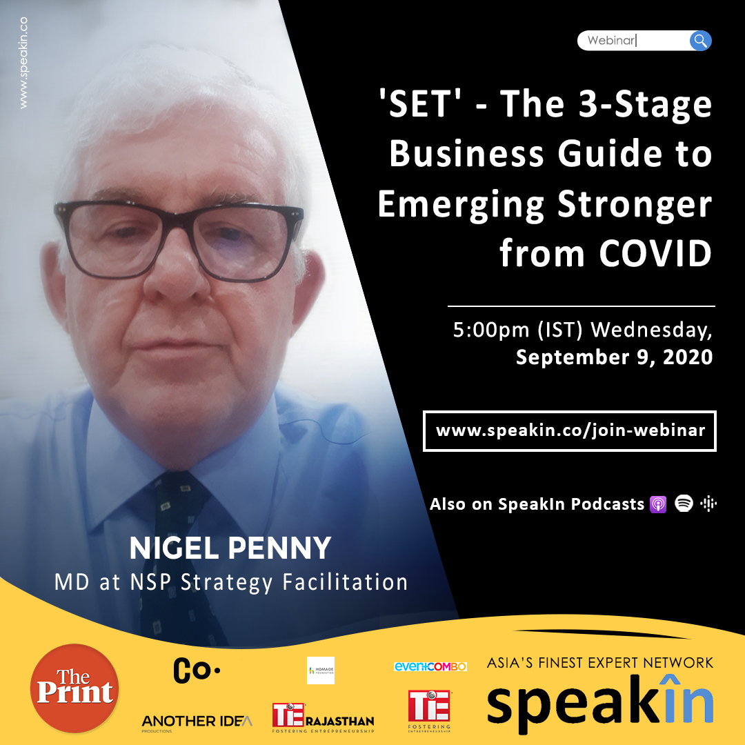 'SET' - The 3-Stage Business Guide to Emerging Stronger from COVID