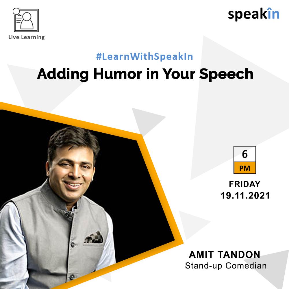 Adding Humor in Your Speech
