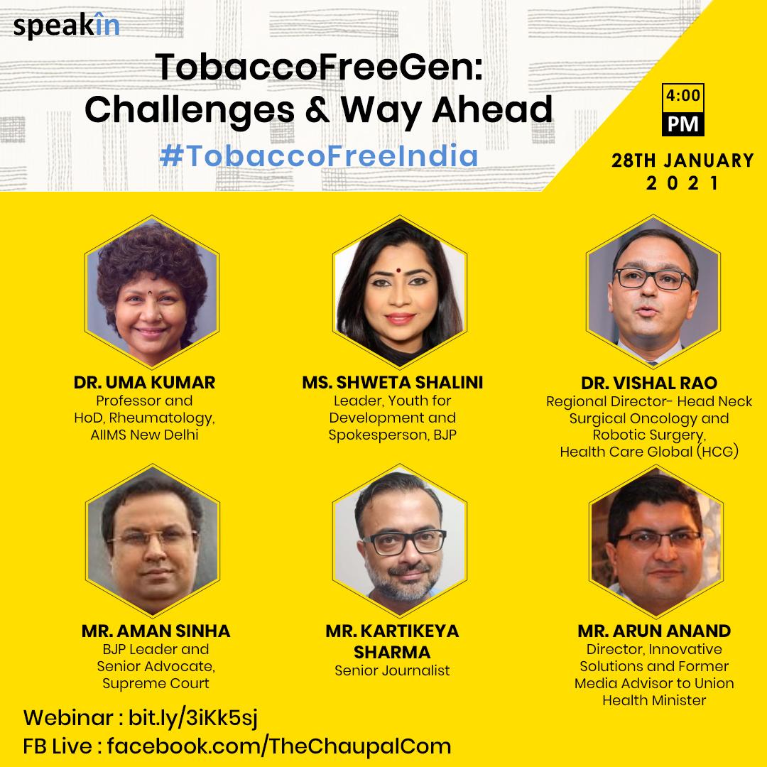 TobaccoFreeGen: Challenges and Way Ahead