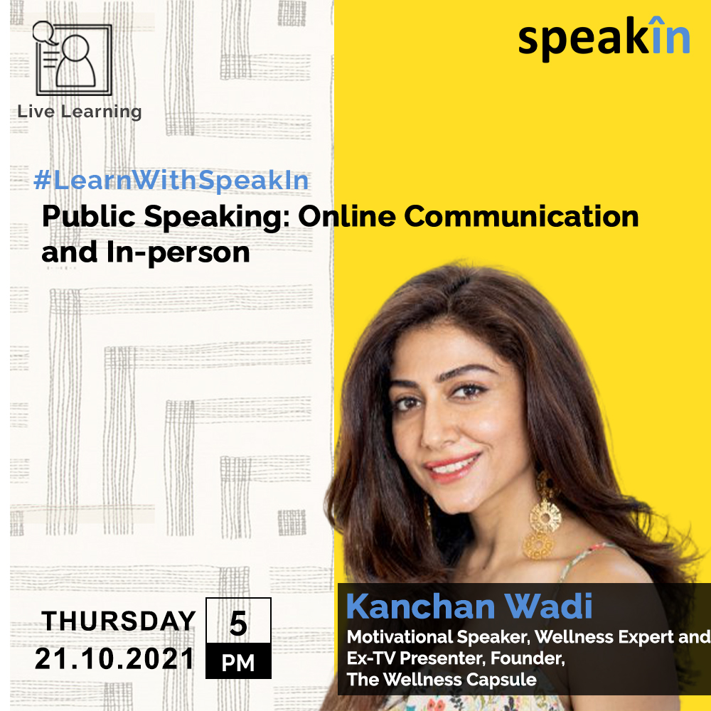 Public Speaking: Online communication and In-person