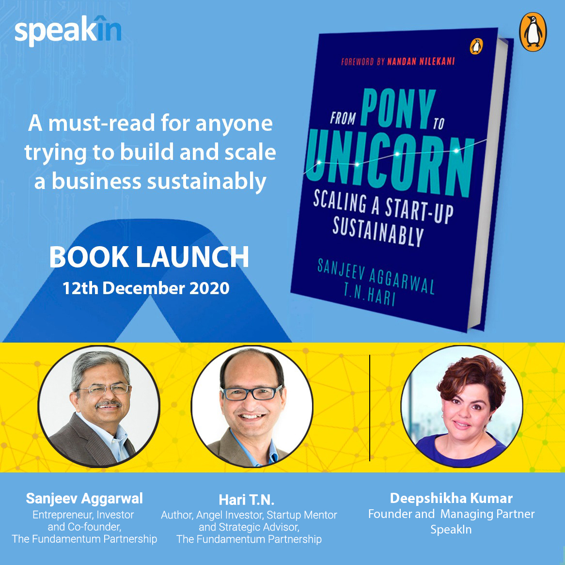 From Pony to Unicorn - Book Launch with SpeakIn