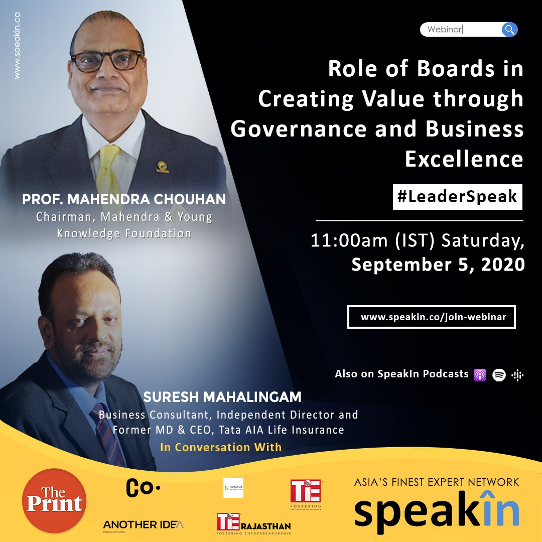Role of Boards in Creating Value through Governance and Business Excellence