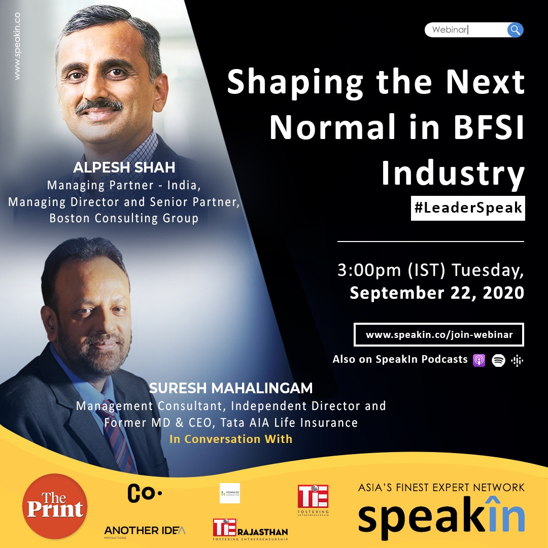 Shaping the Next Normal in BFSI Industry