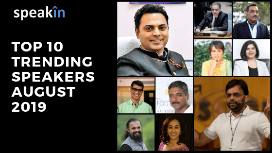 Iti Rawat Ranking 7th in the TopX trending Speakers Aug2019.